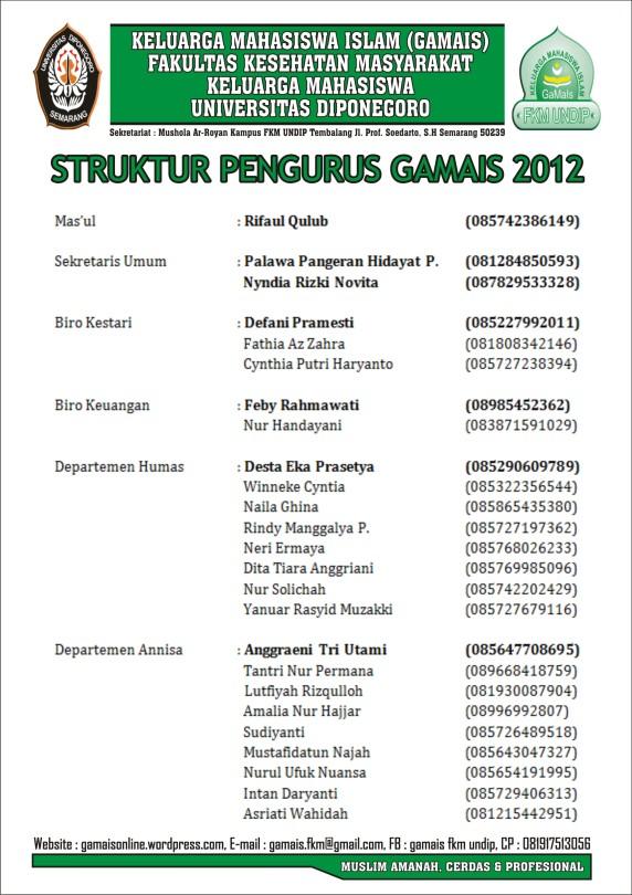 PENGURUS GAMAIS 2012 1